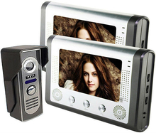 Novel and beautiful appearance 7″LCD Digital video door phone Camera Door bell Support Auto-Photo Snapping & Video Record