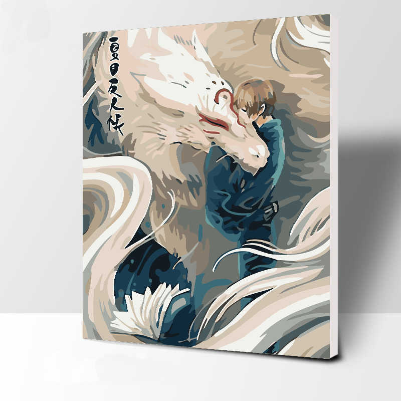 Frameless Picture Mermaid love DIY Painting By Numbers Modern Wall Art Handpainted Oil Painting On Canvas For Home Decor