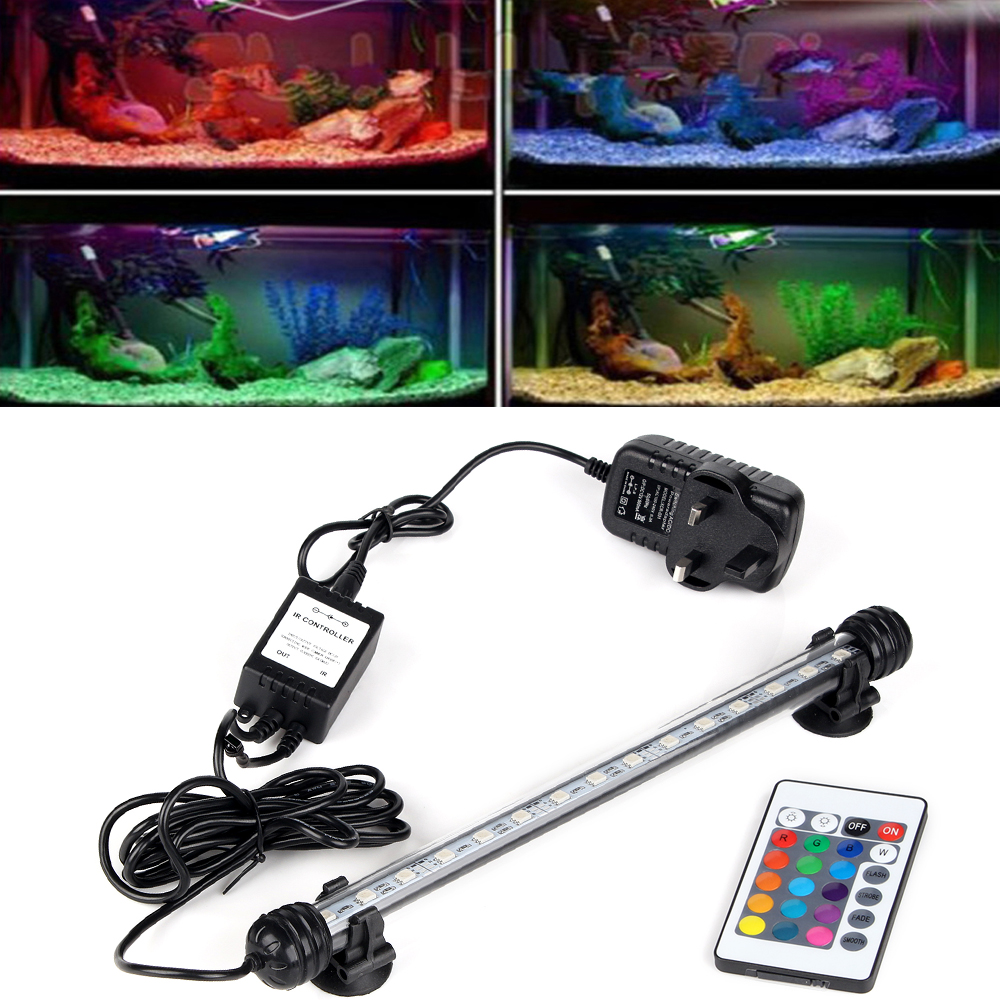 Aquarium fish tank online shopping - Uk Plug Aquarium Fish Tank Led Light Submersible Light Bulbs Tubes 5050 Smd Rgb Led Lamp