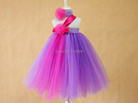 2014 New Baby Girls Summer Wedding Party Dresses In Stock Retail Flowers Girls Dress Lavender Hot