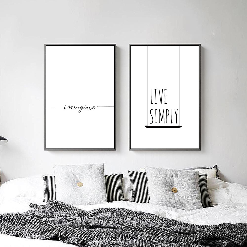 Nordic Decoration Motivational Life Quote Canvas Posters Min