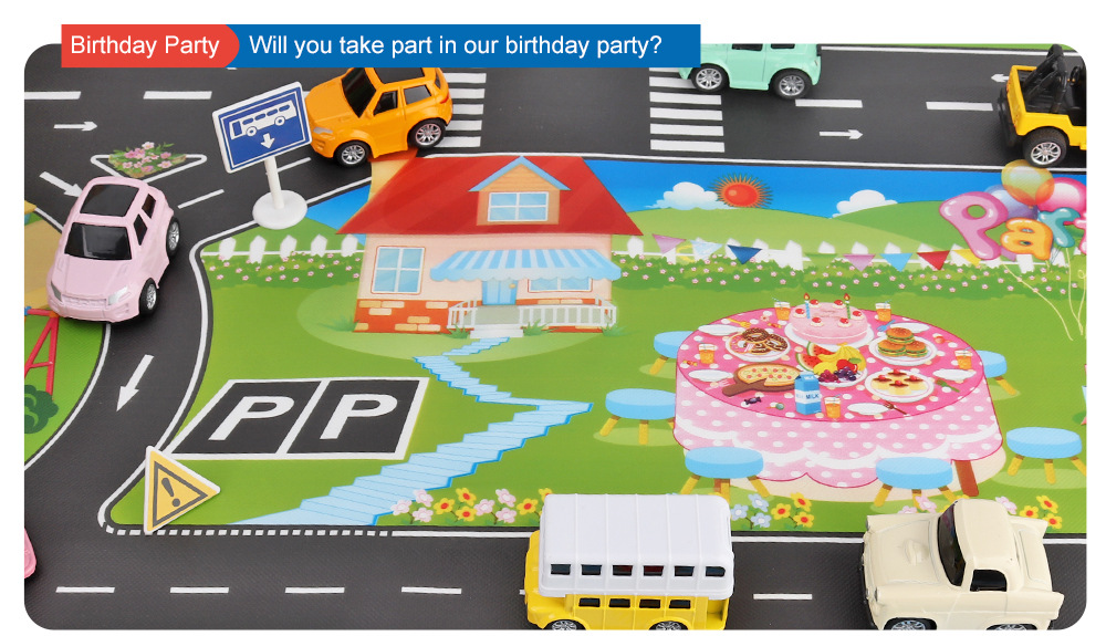 HTB154y3aqSs3KVjSZPiq6AsiVXaZ 130*100cm Children's Traffic Car Play Pad Parking scene big map kids play maps Parent child toys boy girl kids toy game mat map