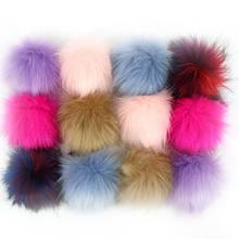 DIY Artificial Faux Mink Fur Fluffy Pompom Ball Solid Color For Knitting Hat Shoes Scarves Bag Handbag Charms Ornament(China)