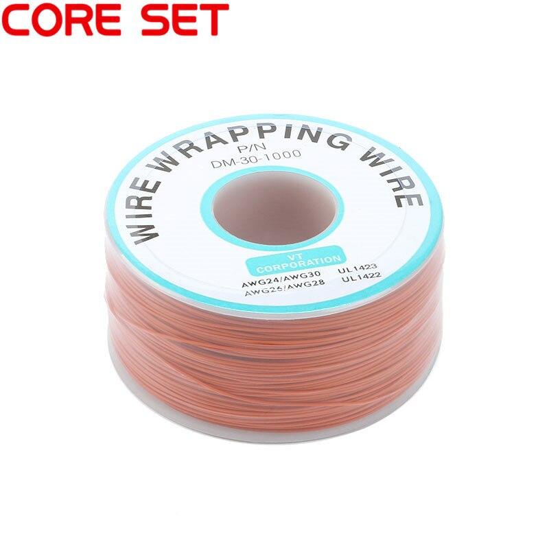 250 м/лот 30 AWG оберточный провод 10 цветов одножильный медный кабель Ok провод электрический провод для ноутбука Материнская плата PCB припой - Цвет: Orange