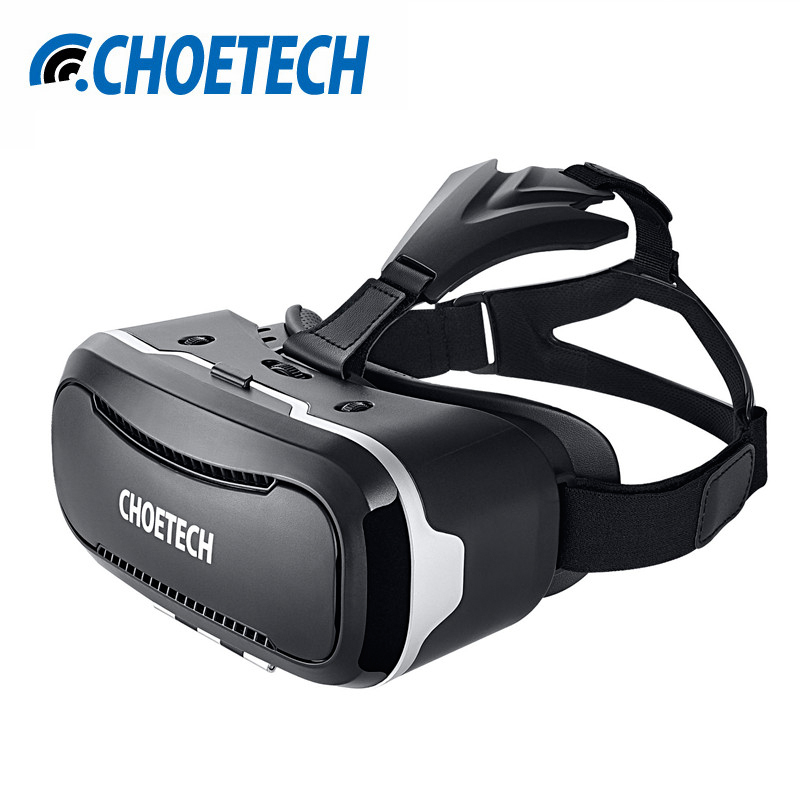 "CHOE 3D <font><b>VR</b></font> Headset Virtual Reality <font><b>Glasses</b></font> 3D <font><b>Video</b></font> <font><b>Movie</b></font> <font><b>Game</b></font> with <font><b>Adjustable</b></font> Lens&Strap For 3.5""-6"" iPhone Samsung Smartphones"