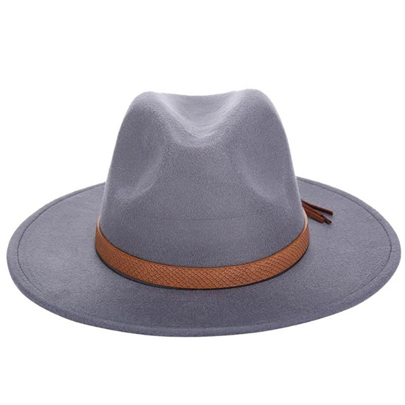 a52991c3 2016 Autumn Winter Sun Hat Women Men Fedora Hat Classical Wide Brim Felt  Floppy Cloche Cap Chapeau Imitation Wool Cap