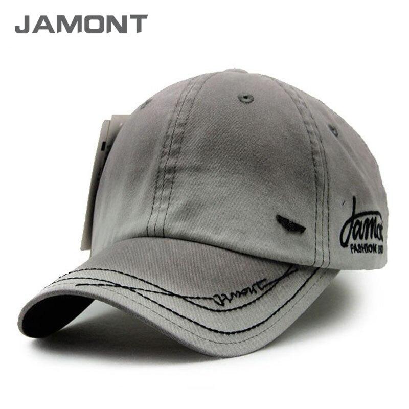 [JAMONT] New Brand Cotton Denim Baseball Caps Men 2017 Snapback Hats Polo Cap Z-3071 men fish patern outdoor washed cotton baseball caps