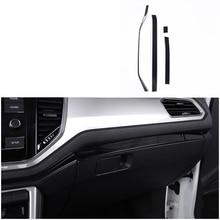 lsrtw2017 titanium black stainless steel car dashboard trims decoration for volkswagen t-roc 2017 2018 2019 2020