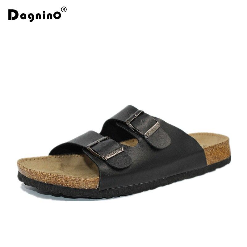 DAGNINO Men Summer Beach Shoes Leisure Cork Slippers Fashion Couple Flip Flops Comfortable Footwear Unisex Plus Size 35-46 A3