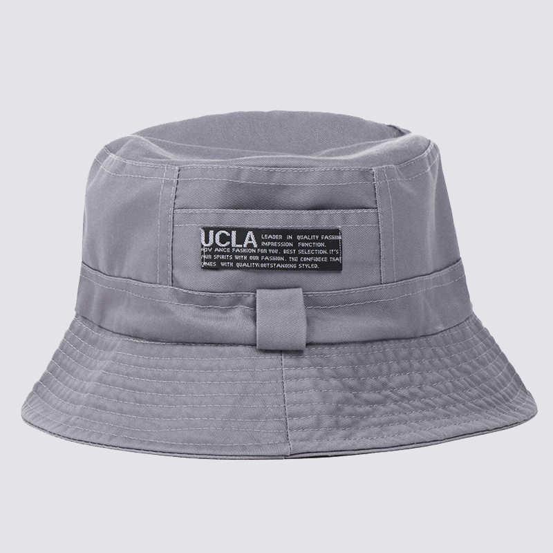 7be48c346ab ... Classic Men Couple Cotton Street Bucket Hat Women Fishing Cap Girls Sun  Protection Summer Sun Beach ...
