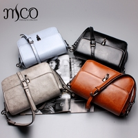 Melodycollection Summer Vintage Genuine Leather Women Shoulder Bags Oil Wax Cow Leather Women Bag Brand Designer