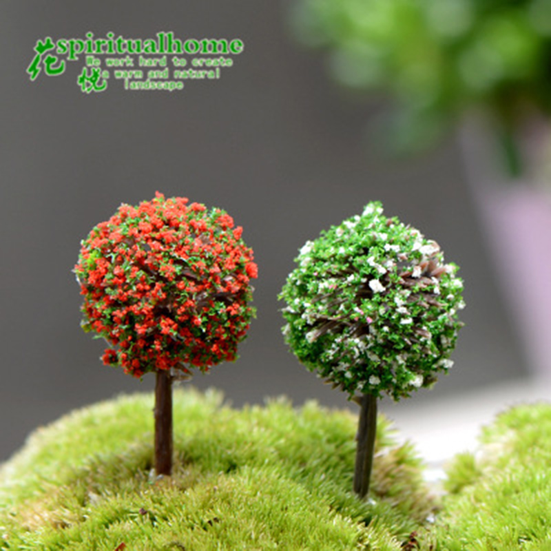 ZOCDOU 4 Pieces Highway Tree Arbor Plant Euro Truck Simulator Model Small Statue Figurine Crafts Ornament Miniatures DIY Decor
