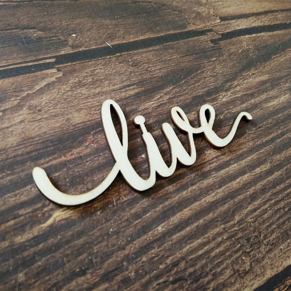 US $3 79 5% OFF|10pcs Laser Cut Peace Script Word Wood Sign Art Wooden  Signs Cursive Wood Rustic Letter Home Wall Decor-in Party DIY Decorations  from