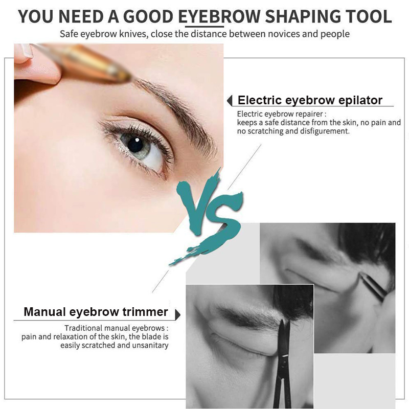 Portable Electric Painless Eyebrow Epilator Trimmer For Women Lipstick Eye Brow Epilator Pen Face Hair Remover Shaver Razor 4
