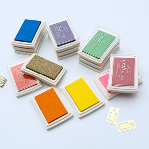 1pc 15 colors big ink pad oil planner scrapbooking silicone stamp DIY diary greeting card Wood Paper Craft Gift