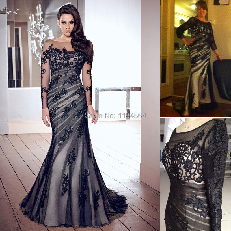 Hot Selling Tailor made evening dress 2015 new lace mermaid prom ...