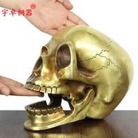 Unique Art PUNK COOL Metal Death ROCK 2016 Office Home TOP Fashion Decorative Art Skull Heads