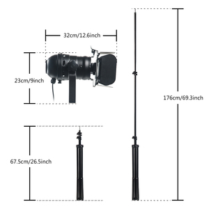 Image 5 - 2 חבילה תעשייתי יצירתי רטרו חצובה שחור מנורת רצפת אורות חדר אורות Stand מנורות
