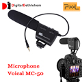 Pixel Microphone Voical MC-50 DSLR Camera Mounted Shotgun Microphone for Canon Nikon Sony Blackmagic