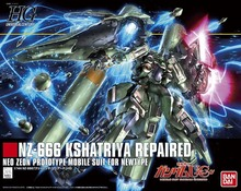 Original Gundam HG 1/144 Model NZ-666 KSHATRIYA Repaired UNICORN GUNDAM Mobile Suit Kids Toys With Holder