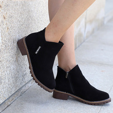 Faux Suede Ankle Boots Female Autumn Women Boots