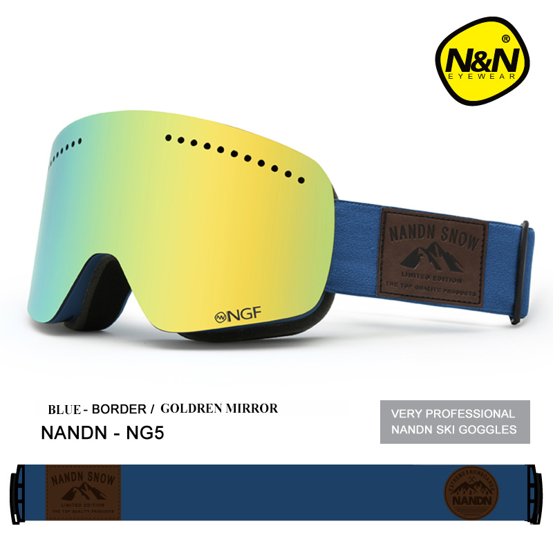 370d10161eb Detail Feedback Questions about NANDN Ski Goggles Double Layer UV 400 Anti  Fog Ski Mask Glasses Men Women Skiing Snow Snowboard Goggles Multifunction  ...