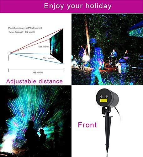 Home & Garden Christmas Official Website Starry Laser Lights Landscape Projector Lights Outdoor Waterproof Laser Lamp For Outdoor Garden/yard/wall Family Gathering Party