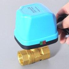 """DN15 DN20 DN25 DN32 AC220V agua eléctrica válvula de bola motorizada de 2 vías de latón, interruptor tipo de dos vías hvac 1/2 """"3/4"""" 1 """"2"""" válvulas"""