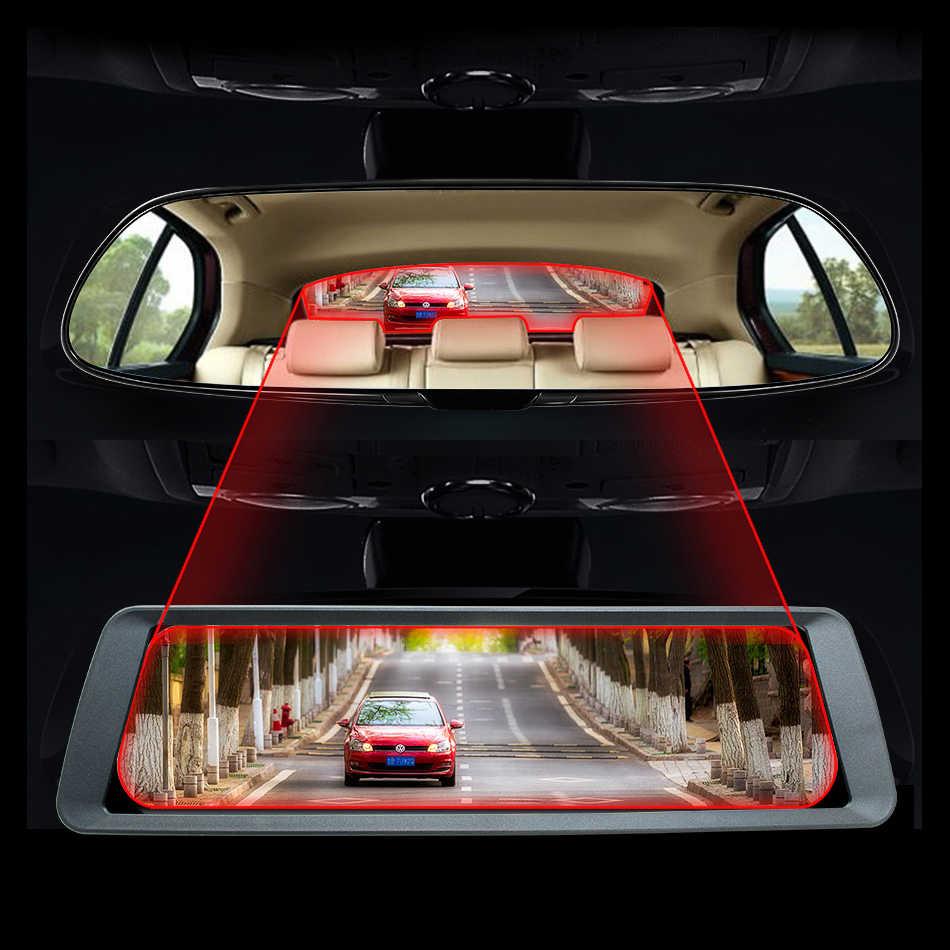 """GreenYi 9,88 """"Полный сенсорный экран 1080 P HD Автомобильный видеорегистратор Даш камера полный крючок из цинкового сплава зеркало монитор двойной Dashcam Dash Cam"""
