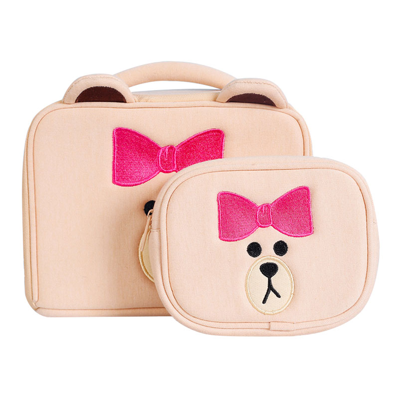7cb1f405e13b US $7.61 23% OFF|New Cute Bear Travel Khaki Cosmetic Bag Cartoon Girl's  Make Up Pouch Wash Makeup Tools Organizer Case Box Accessories Supplies -in  ...