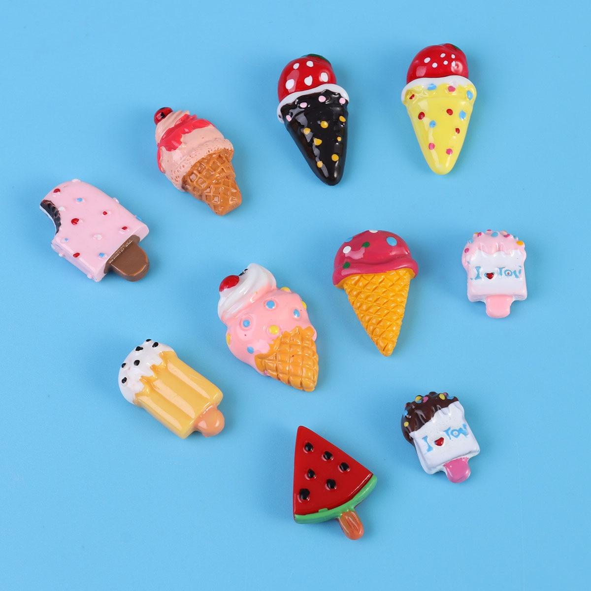 10pcs Dessert Fridge Magnet Ice Cream Fridge Magnets Sticker Decor ...