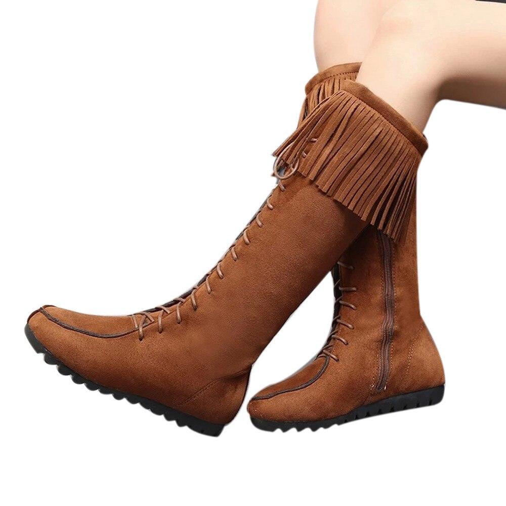 Aliexpress.com : Buy YOUYEDIAN Lace Up Women Knee Long