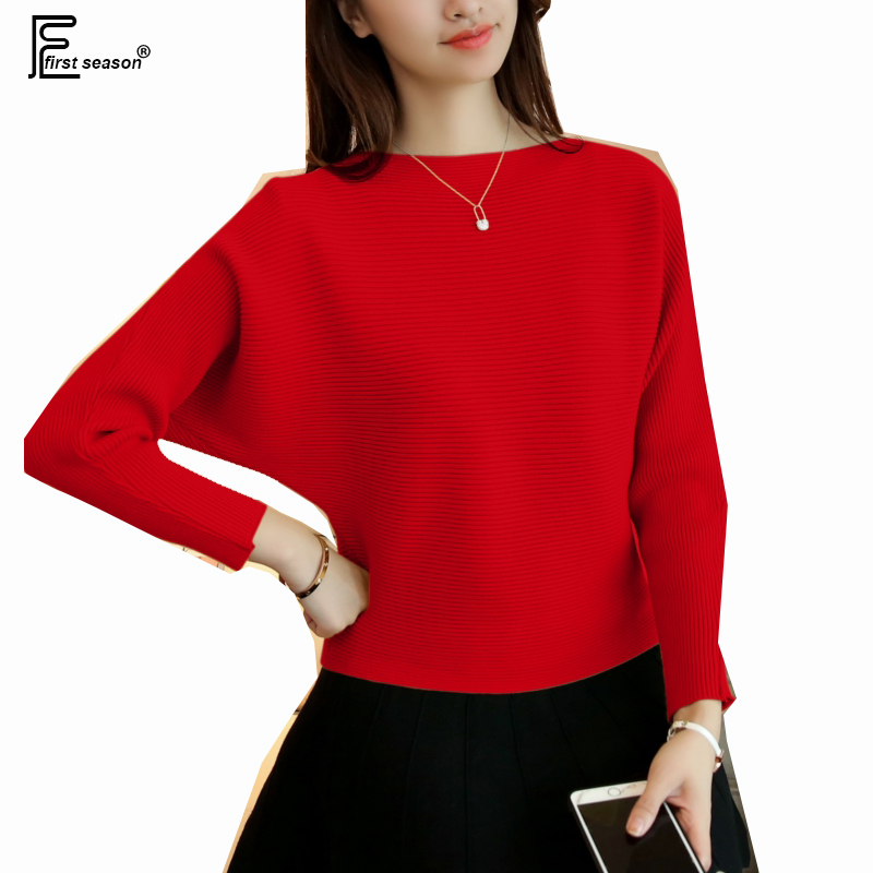 Autumn Winter Pullovers New Hot Selling Women Fashion Batwing Sleeve Cute Sweet Yellow Red Black Gray Yellow Knit Sweaters 9275 Платье
