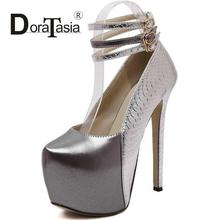 DoraTasiaขนาด35-39แฟชั่นผู้หญิงปั๊มG Ladiatorสายคล้องข้อเท้ารองเท้าส้นสูงผู้หญิงสีผสมปั๊มแพลตฟอร์ม2016