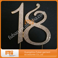 10 Pieces Lot 18 Cake Topper 18th Birthday Gold Number Decoration