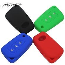 Jingyuqin 30 unids/lote 3 botones de silicona cubierta de mando de llave a distancia para Toyota Camry Highlander Corolla Prado Reiz corona RAV4