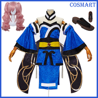 [Dress+Wig+Shoes+Accessories]Anime Fate Extra CCC Caster Tamamo no mae Costume Cosplay Halloween Carnival Costumes Full Set