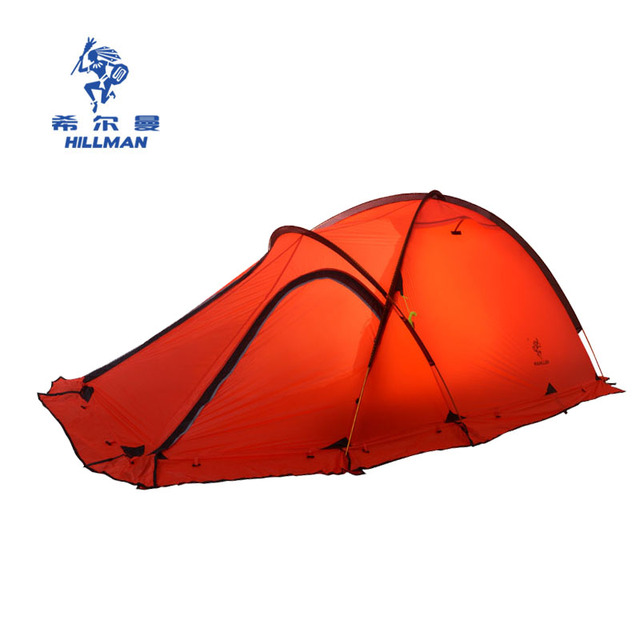 20D silicone nylon fiber Tent 4 season 2-3 persons camping tents ultralight tent for high altitude low temperture winter tent