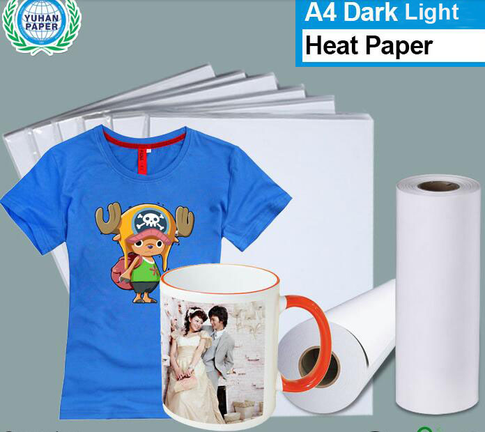 50piece/pack A4 Heat Transfer Paper Sheet Dark/Light Colour T Shirts Sublimation Injek Printing Paper Vinyl