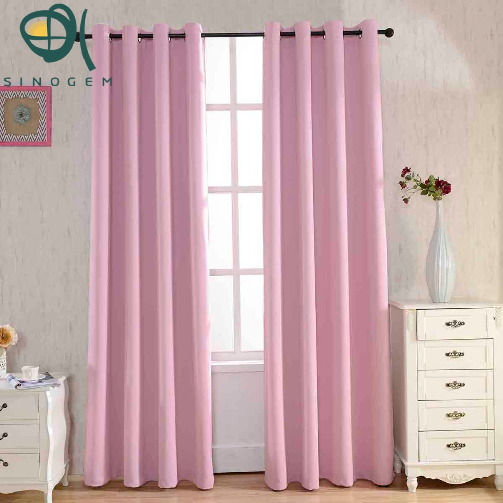 Kids modern bedroom curtains - Pink Dyed Blackout Curtains For The Bedroom Solid Color Window Curtains For Living Room Modern Curtains