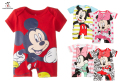 Baby Romper Mickey Minnie Cartoon Short Sleeve Cute Clothes Baby Girl One Pieces Jumpsuits Roupas De Bebe Infantil Baby Clothing