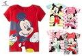 Romper do bebê Mickey Minnie Dos Desenhos Animados Manga Curta Roupa Bonito Do Bebê Menina One Pieces Macacões Roupas De Bebe Infantil da Roupa Do Bebê