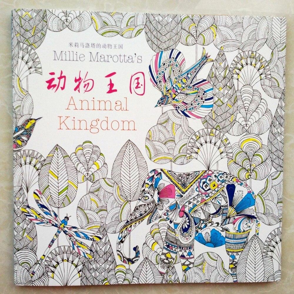 Malbuch Packpacka Secret Garden III Animal Kingdom An Treasure Hunt And Coloring Book Adult Colouring Books Libro Graffiti