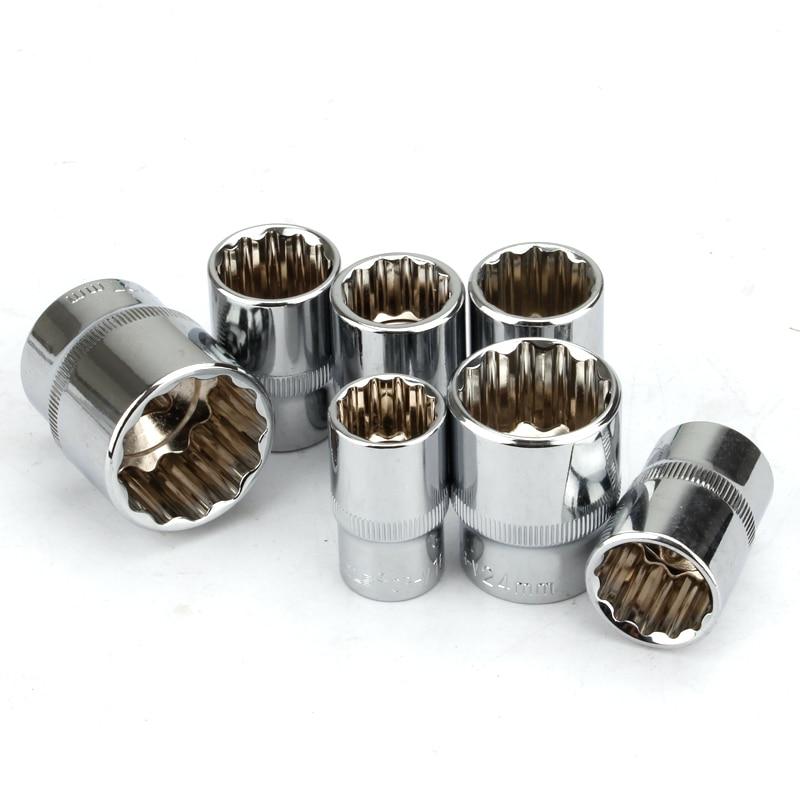 "1/2"" Square Drive 12-point Socket Bit Ratchet Wrench 12pt Sockets Hand Tool Kit 12 Angles Plum Blossom Sleeve 8-32mm"