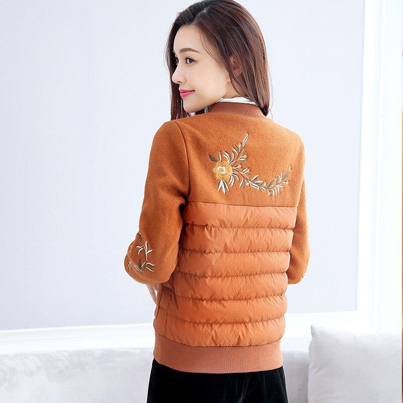 Для женщин зимние Одежда высшего качества однотонные парки черный/красный/хаки/Армейский зеленый куртки