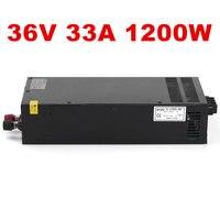 Лучшее качество 36 V 33A 1200 W импульсный источник питания Драйвер для CCTV камеры светодиодная лента AC 100 240 V вход в DC 36 V Бесплатная доставка
