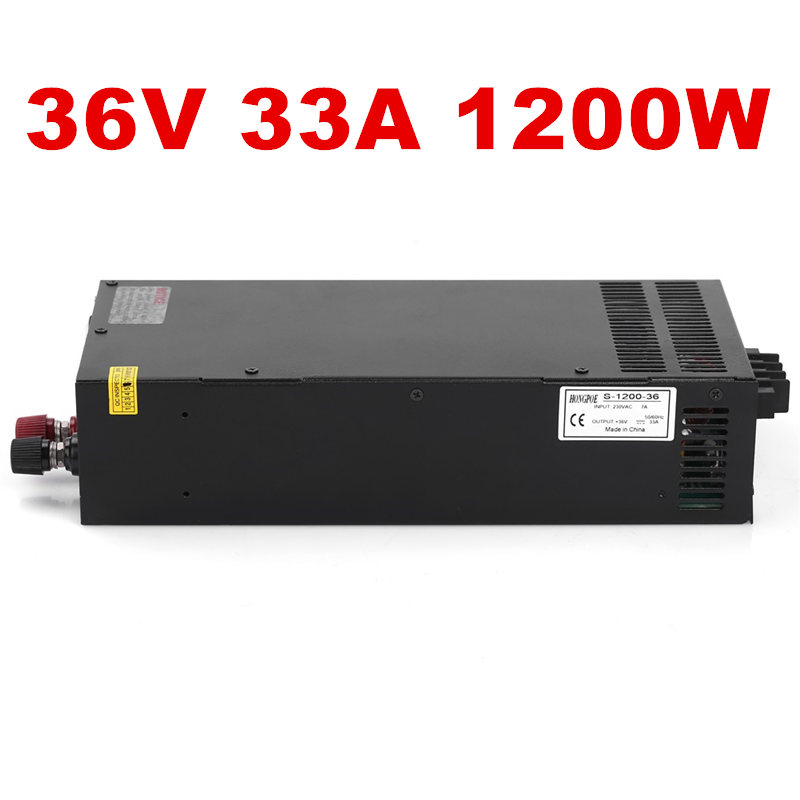 Best quality 36V 33A 1200W Switching Power Supply Driver for CCTV camera LED Strip AC 100-240V Input to DC 36V free shipping best quality 36v 11a 400w switching power supply driver for cctv camera led strip ac 100 240v input to dc 36v