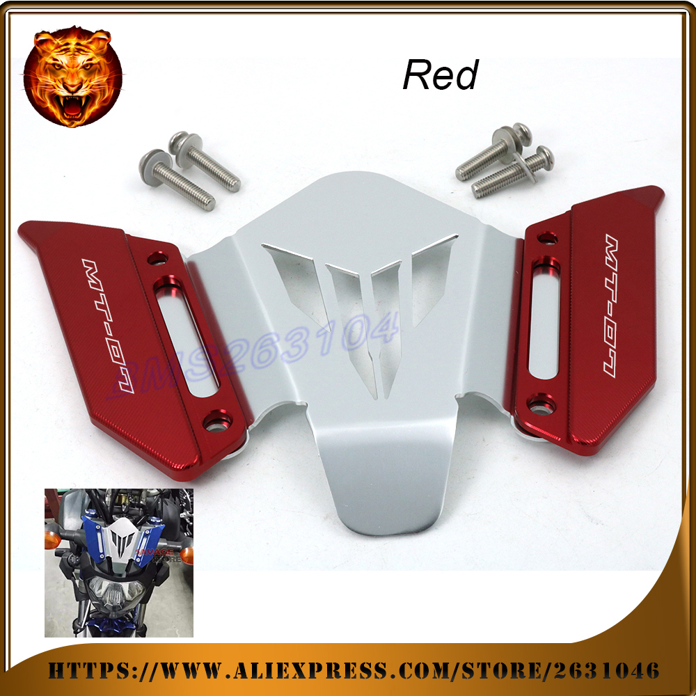Motorcycle CNC Aluminum Windscreen Windshield Mounting Bracket For YAMAHA MT07  MT-07  2014 2015 2016 Red  New STYLE WITH LOGO new style balance shock front fork brace for yamaha mt07 fz07 mt 07 fz 07 2014 2015 2016 motorcycle accessories cnc aluminum