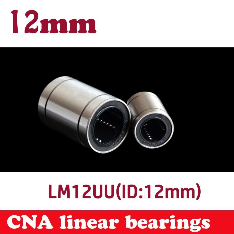 10 pcs/lot LM12UU 12mm Linear Ball Bearing for 12mm shaft Bushing Linear Bearings CNC parts 3d printer parts LM12 8pcs lot sc8v scv8uu 8mm linear bearing bushing lm8uu linear ball bearing for 8 mm linear shaft