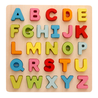 wooden puzzle toy alphabet and digit early education game head training montesseri toys for baby kids Jigsaw gift